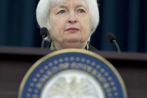 Federal Reserve Chair Janet Yellen speaks during a press conference in Washington, DC in March. The Fed held steady on interest rates after a two-day meeting of its policymaking committee. But it appears on course to increase rates later this year.