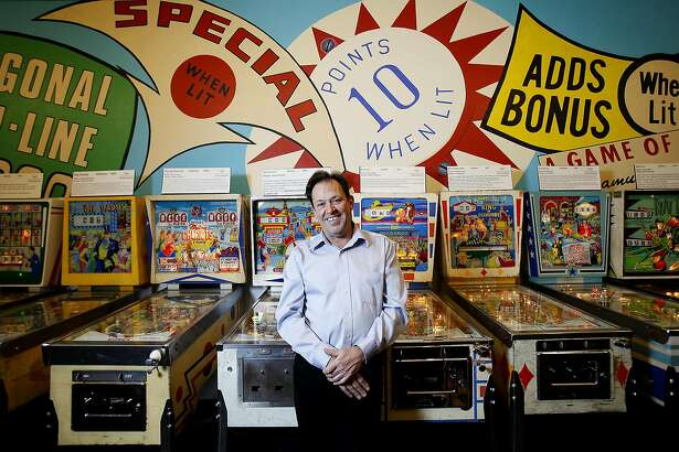 Michael Schiess, the executive director and founder of the Pacific Pinball Museum, in Alameda, Calif., on Saturday, April 25, 2015.