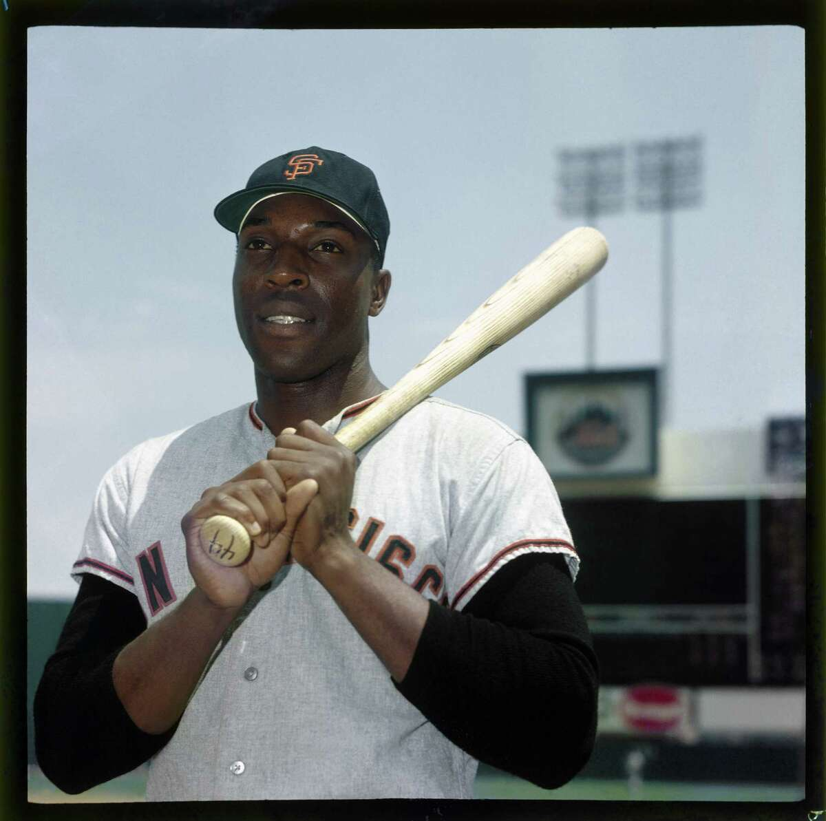 Willie McCovey of the San Francisco Giants poses for a portrait before the game against the New York Mets at Shea Stadium in Queens, New York circa 1964.