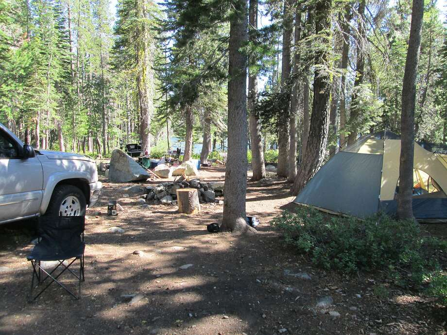 A campsite in the Plumas National Forest. More than 1 million North American households started camping last year. Photo: Tom Stienstra, Tom Stienstra / The Chronicle
