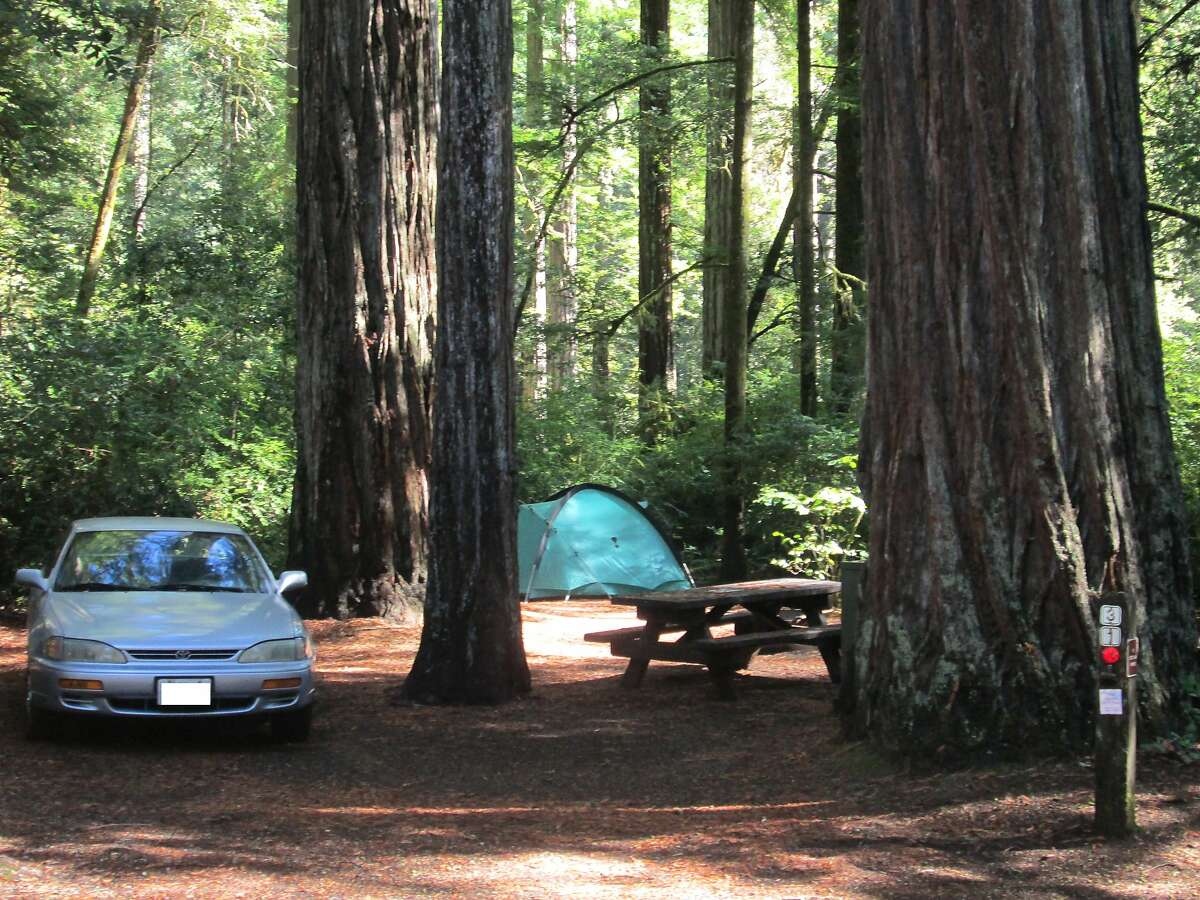 Campsite at redwood empire: Several state parks in Redwood Empire still have space available for 4th of July Weekend