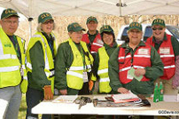 The New Milford Community Emergency Response Team recently assisted the Water Witch Hose Co #2 during the Search and Rescue (SAR) drill. Above are, from left to right, Mike Cepetelli of the Stratford CERT, and New Milford CERT members Judith Petrovich, Mary Cleary, Charles Pomeroy, Sandy Ho, Valerie Truesdell and Tunde Sander.