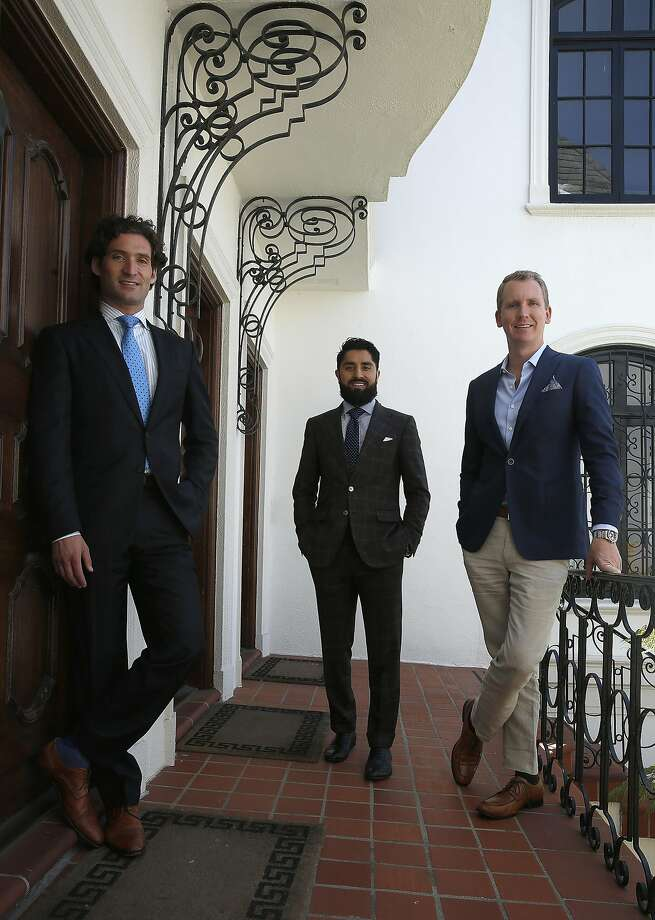 Realtors Justin Fichelson (left), Roh Habibi and Andrew Greenwell on the Bravo reality show. Photo: Liz Hafalia, The Chronicle