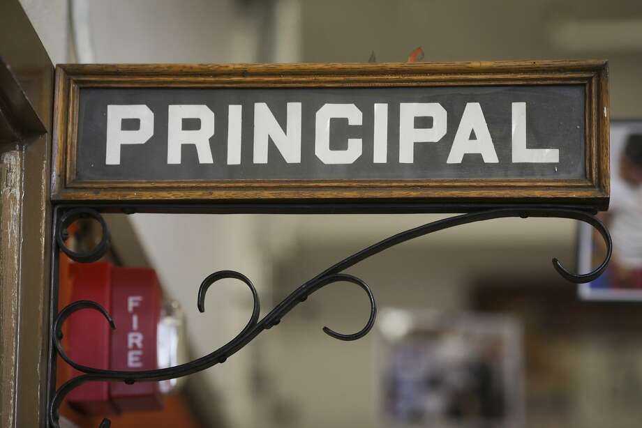 A sign outside a Bay Area principal's office. Photo: Sam Wolson, Special To The Chronicle