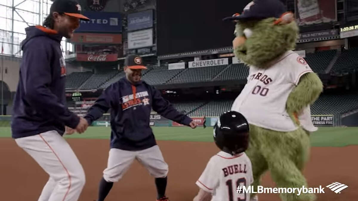 Three-year-old Cooper Buell was invited to hang out with the Astros at Minute Maid Park by Bank of America.