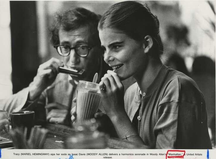 Woody Allen and Mariel Hemingway in the movie Manhattan