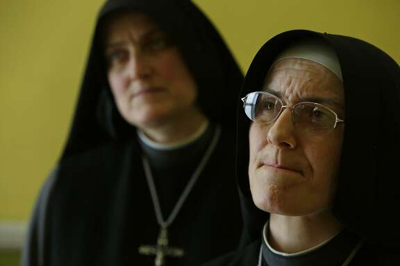 Sister Mary Benedicte (l to r) and Sister Mary Valerie are seen at Fraternite Notre Dame Mary of Nazareth Soup Kitchen on Thursday, February 11, 2016 in San Francisco, Calif.
