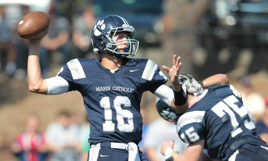 During his career at Marin Catholic, Jared Goff — The Chronicle's 2012 Metro Player of the Year — threw for more than 7,000 yards and 93 touchdowns. Photo: Mathew Sumner, Special To The Chronicle