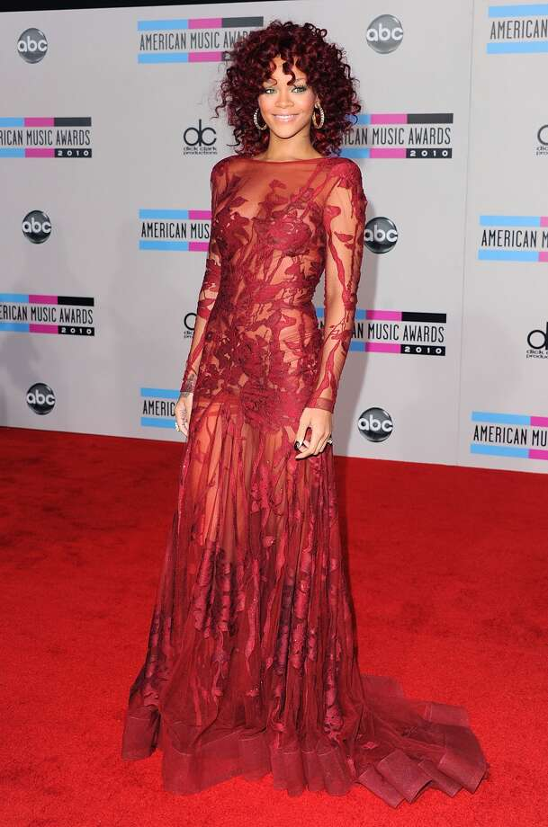 LOS ANGELES, CA - NOVEMBER 21:  Singer Rihanna arrives at the 2010 American Music Awards held at Nokia Theatre L.A. Live on November 21, 2010 in Los Angeles, California.  (Photo by Jon Kopaloff/FilmMagic) Photo: FilmMagic