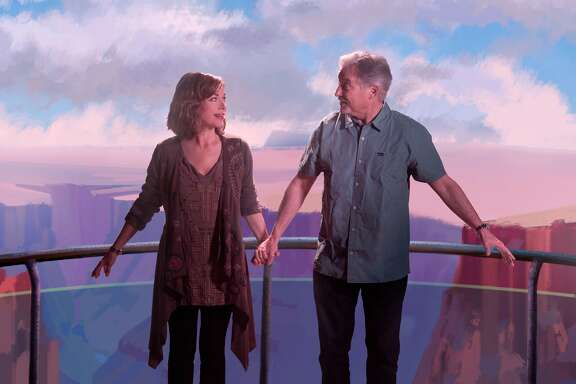 "Real-life empty nesters Pamela and John Walker play a couple who take what may be a life- changing trip to the Grand Canyon Skywalk in ""The Empty Nesters."""