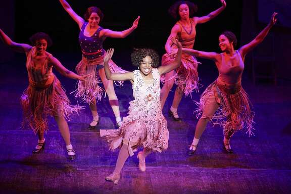 """Adrienne Warren (center) and ensemble in """"Shuffle Along, or the Making of the Musical Sensation of 1921 and All That Followed."""" MUST CREDIT: Julieta Cervantes"""