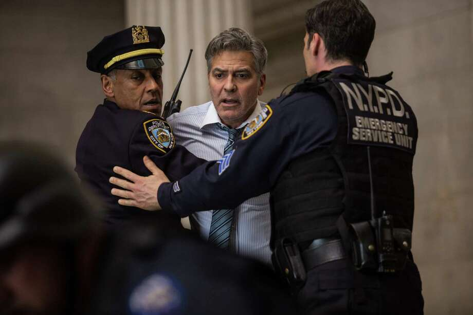 "This image released by Sony Pictures shows George Clooney in a scene from ""Money Monster,"" opening in theaters nationwide on May 13. (Atsushi Nishijima/Sony Pictures via AP) Photo: Atsushi Nishijima, HONS / Sony Pictures"