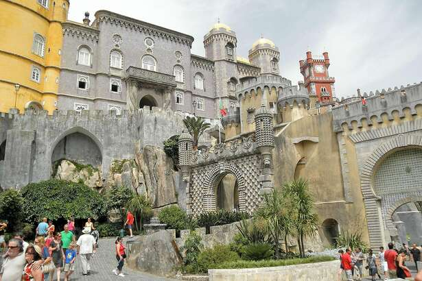 Everything about Pena Palace is fantastical, starting with its ersatz moat and drawbridge.