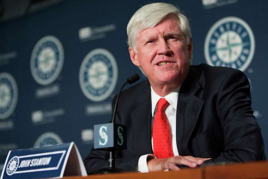 FILE -- Then-prospective Mariners chairman John Stanton speaks during a  press conference announcing a change of ownership at Safeco Field on Wednesday, April 27, 2016. Photo: GRANT HINDSLEY, SEATTLEPI.COM / SEATTLEPI.COM