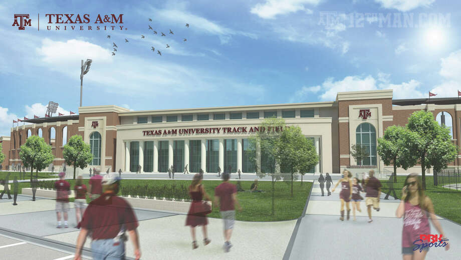 Rendering of Texas A&M's new track and field complex, approved by the Board of Regents on April 27, 2016. Photo: Courtesy Photo /A&M Athletics