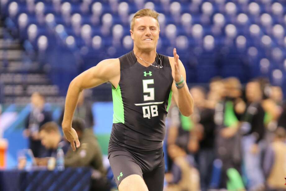 Former Michigan State quarterback Connor Cook met with the 49ers at his pro day and he made a pre-draft visit to Santa Clara. From Cook's perspective, there were good vibes. Photo: Gregory Payan, AP