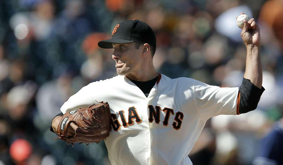 Giants' closer Javier Lopez throws in the ninth inning, as the San Francisco Giants went on to beat the San Diego Padres 13-9 at AT&T Park in San Francisco, California on Wed. April 27, 2016.