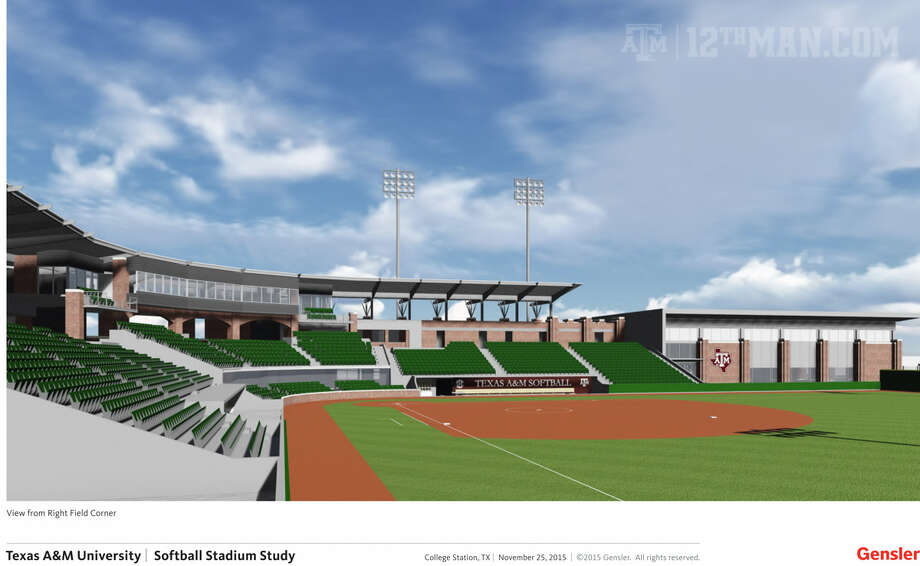 Texas A&M's new softball stadium, to be located at the corner of Tom Chandler Road and Penberthy Road, will cost $28.6 million, seat 2,000 and open in 2018.