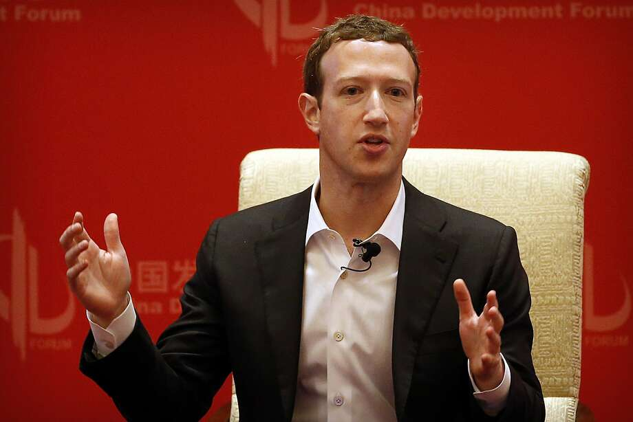 Facebook CEO Mark Zuckerberg speaks during a panel discussion held as part of the China Development Forum at the Diaoyutai State Guesthouse in Beijing, Saturday, March 19, 2016. (AP Photo/Mark Schiefelbein) Photo: Mark Schiefelbein, AP