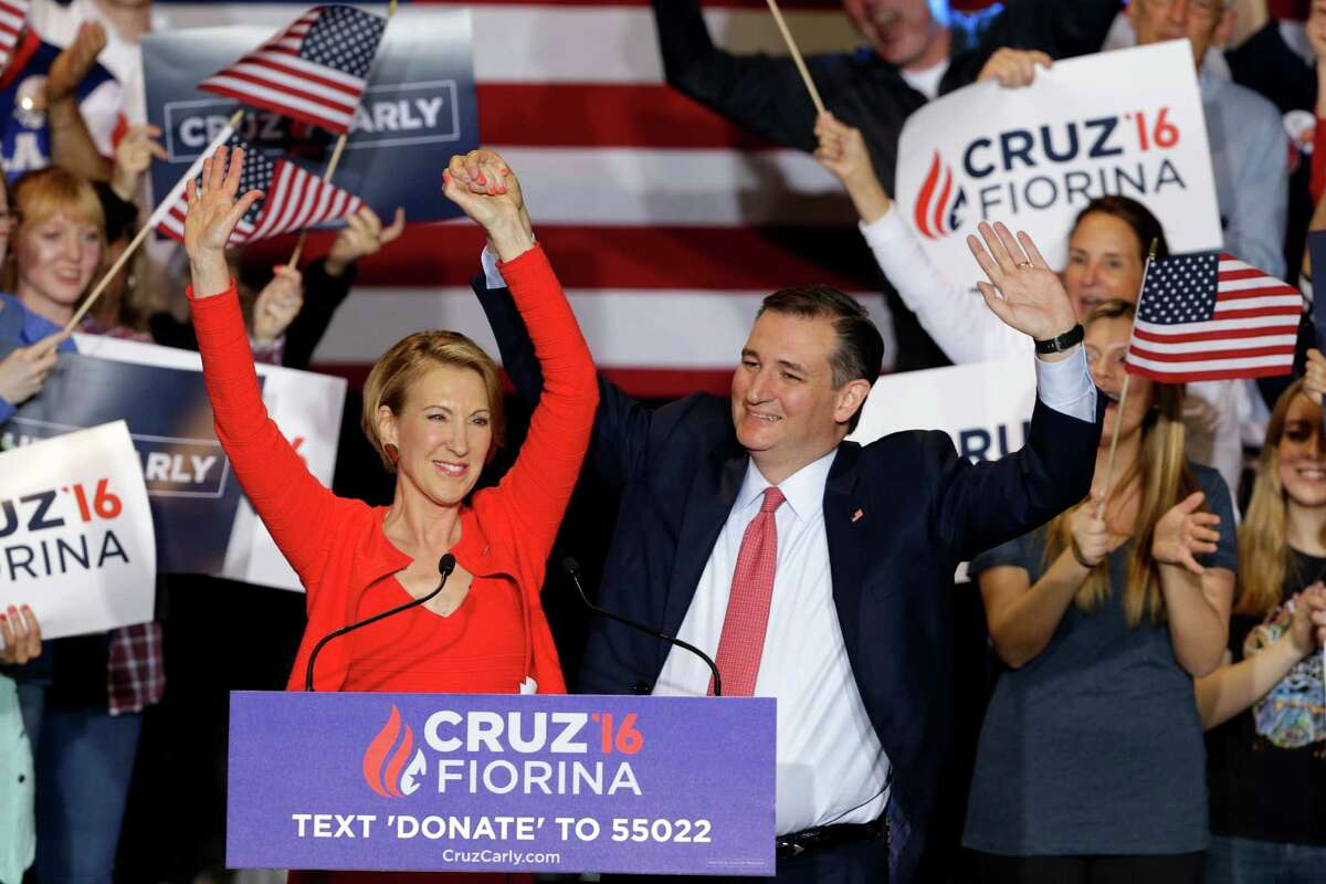 Ted Cruz said his pick of Carly Fiorina to be his running mate came