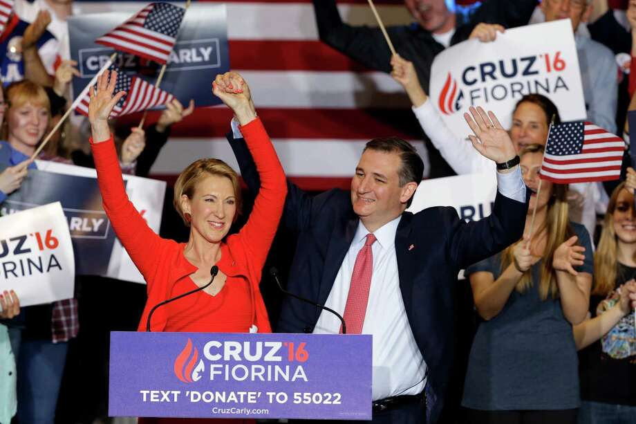 """Ted Cruz said his pick of Carly  Fiorina to be his running mate came """"after a great deal of thought.""""Here's what you need to know about Fiorina. Photo: Michael Conroy, STF / Copyright 2016 The Associated Press. All rights reserved. This material may not be published, broadcast, rewritten or redistribu"""
