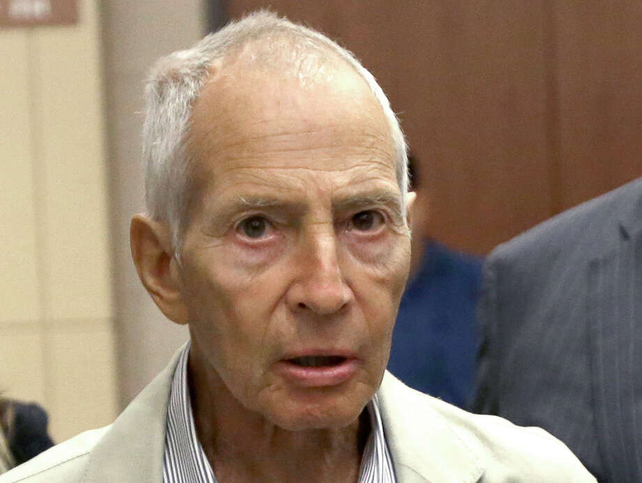 FILE - In this Aug. 15, 2014 file photo, New York City real estate heir Robert Durst leaves a Houston courtroom. New Orleans Federal Judge Kurt Engelhardt on Wednesday, April 27, 2016, approved a plea agreement for Durst to serve 7 years, 1 month in prison on a weapons charge. Durst still faces a separate murder charge in California. (AP Photo/Pat Sullivan, File) Photo: Pat Sullivan, STF