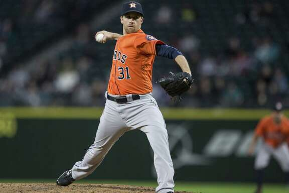 SEATTLE, WA - APRIL 27: Collin McHugh #31 of the Houston Astros delivers a pitch during the third inning of a game against the Seattle Mariners at Safeco Field on April 27, 2016 in Seattle, Washington.