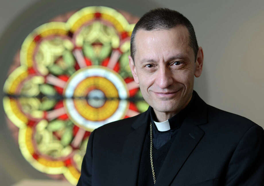 Roman Catholic Bishop Frank Caggiano will be the keynote speaker at the town's 33rd Fairfield Holocaust Commemoration on May 5. Photo: File Photo / Hearst Connecticut Media / Fairfield Citizen