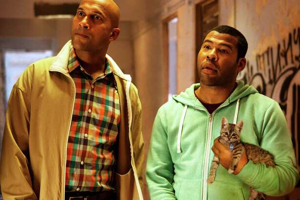 "Keegan-Michael Key, left, is Clarence and Jordan Peele is Rell in ""Keanu."""