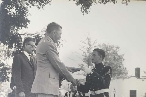 Tony Rosenstein, 18, graduates from the New York Military Academy in 1963.