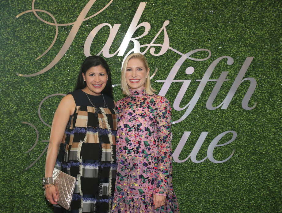 Kristy Bradshaw and Isabel David at the Saks Fifth Avenue grand re-opening VIP reception benefiting MD Anderson. Photo: Amber Elliott, Houston Chronicle / © 2016  Houston Chronicle