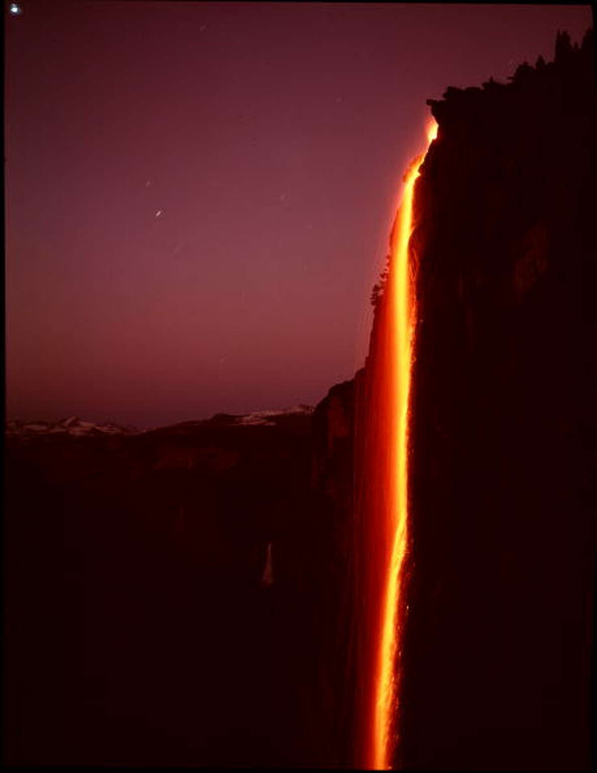 Firefall from Glacier Point at Yosemite National Park. (Photo by Ralph Crane/The LIFE Picture Collection/Getty Images)