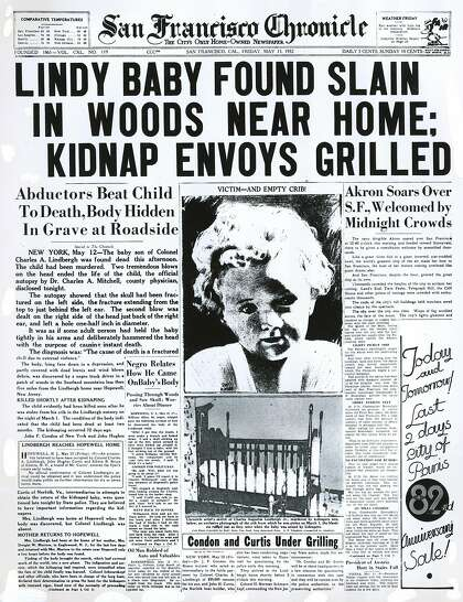 Chronicle Covers: The discovery of the Lindbergh baby's body ...