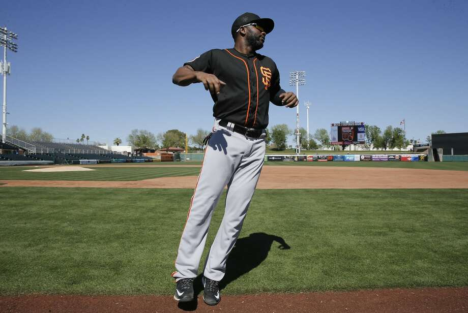 Outfielder Denard Span, 2 heads to the clubhouse following workouts at San Francisco Giants spring training as they prepare for the 2016 season, at Scottsdale Stadium on Friday February 26, 2016 in Scottsdale, Arizona. Photo: Michael Macor, The Chronicle