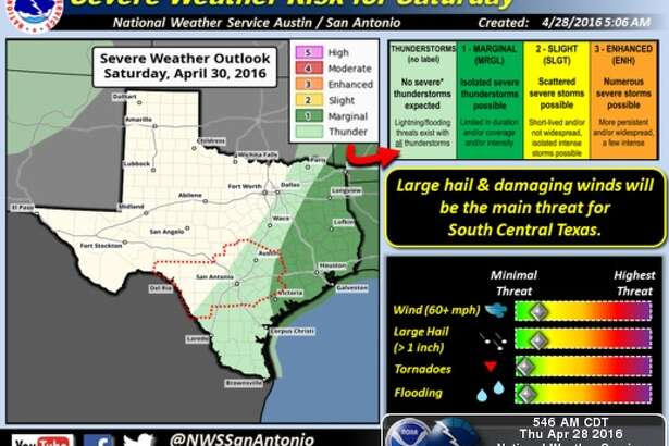 NWS forecasters are calling for more severe storms in San Antonio over the next two days.