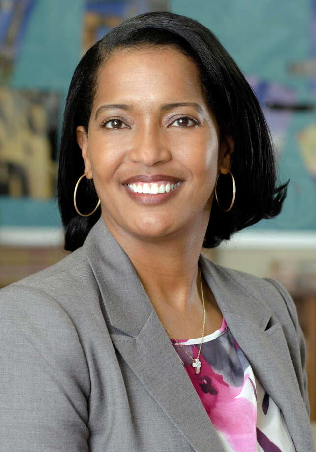 This April 2016 photo released by the Waterbury Public Schools shows Jahana Hayes in Waterbury, Conn., a history teacher at John F. Kennedy High School who was selected as the National Teacher of the Year announced Thursday, April 28, by the Council of Chief State School Officers. She will be recognized by President Barack Obama at a White House ceremony on Tuesday, May 3. (David Therault/Waterbury Public Schools via AP) MANDATORY CREDIT. Photo: David Therault / Associated Press / Courtesy of Waterbury Public Schools
