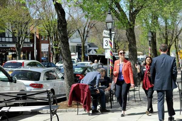Main Street Ridgefield, Conn. Wednesday, April 27, 2016.