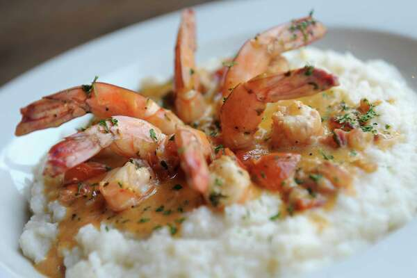 Shrimp & Grits at the Parish Public House on Broadway Tuesday, April 21, 2016 in Albany, N.Y. The dish includes sauteed shrimp in a sherry cream sauce over stone ground grits. (Lori Van Buren / Times Union)