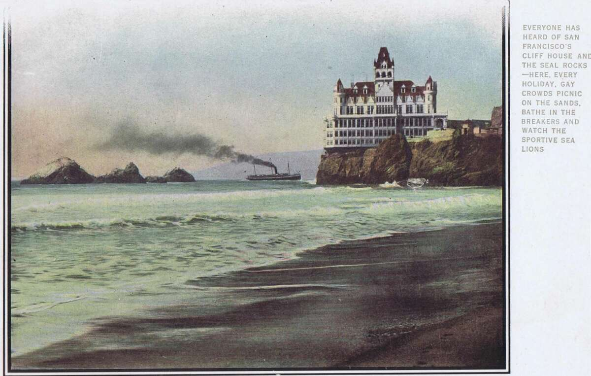 Everyone has heard of San Francisco's Cliff House and the Seal Rocks - here every holiday, gay crowds picnic on the sands, bathe in the breakers and watch the sportive sea lions. The Southern Pacific railroad line from Los Angeles to Oregon.