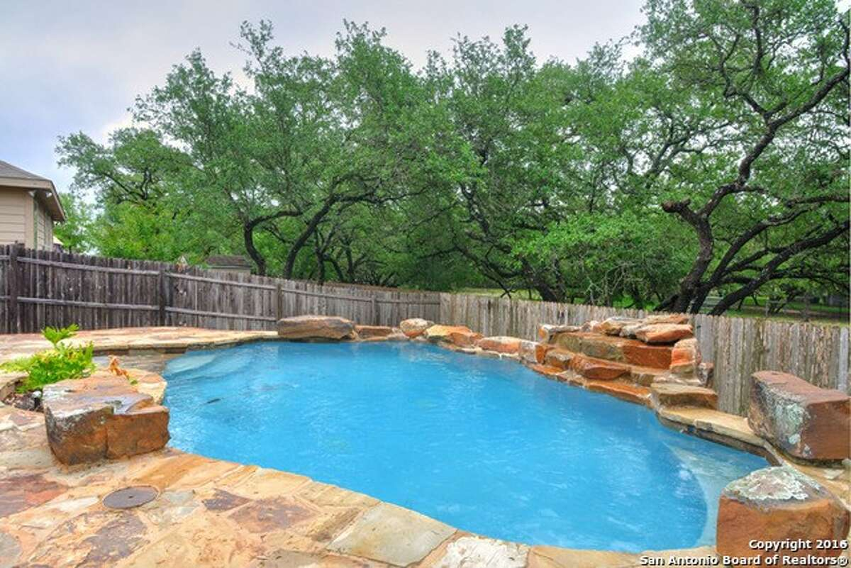 Address: 7518 Paraiso Point Area: Boerne OPEN HOUSE 04/30/2016, 1pm-4pm, 05/01/2016, 1pm-4pm Spectacular resort-style low-maintenance pool with waterfall in a gorgeous private backyard with lush landscaping and mature trees. This 3-bedroom, 2-bath home is