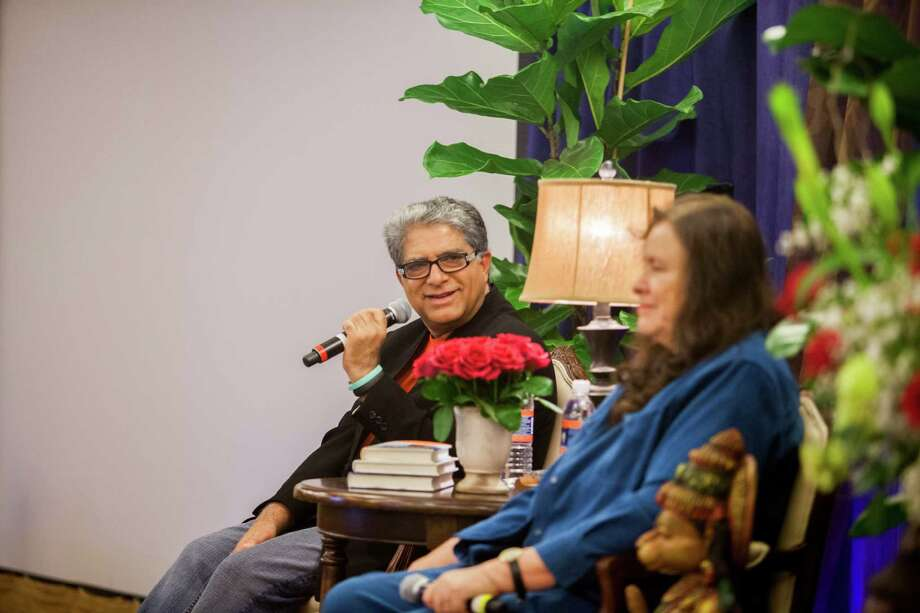 Deepak Chopra, left, co-founder of the Chopra Center for Wellbeing, leads a seminar alongside Chopra Center Educator Jean Houston at the La Costa Resort and Spa in Carlsbad, Calif., Dec. 2, 2012. So-called wellness tourism is estimated to be a $106 billion chunk of the trillion-dollar worldwide ?wellness cluster,? a market that includes travel as well as things like medical tourism, nutrition and fitness, according to a 2010 study prepared by the nonprofit research firm SRI International.(Sam Hodgson/The New York Times) ORG XMIT: MER2014031811193986 Photo: SAM HODGSON / 2012 Sam Hodgson