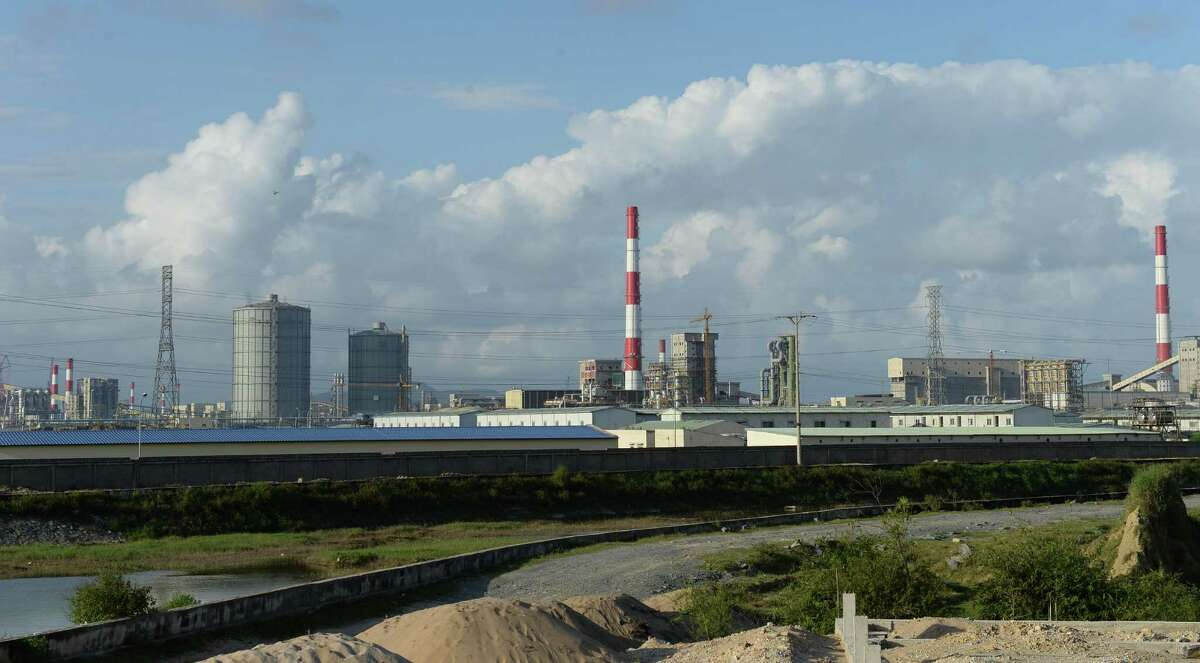 Pollution hovers above the steel mills in the central coastal province of Ha Tinh in Taiwan. A reader says such companies are responsible for global warming.