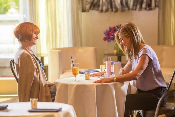 "This image released by Open Road Films shows Julia Roberts, left, and Jennifer Aniston in a scene from ""Mother's Day."" (Ron Batzdorff /Open Road Films via AP) ORG XMIT: NYET131"