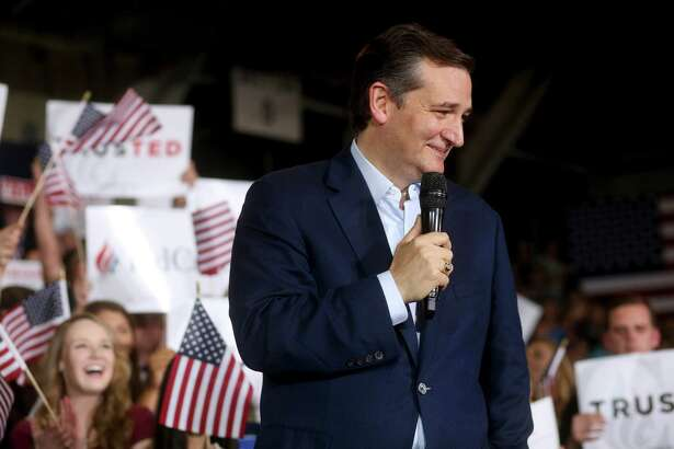 Sen. Ted Cruz speaks at a campaign rally in Knightstown, Ind., on Tuesday. Cruz has a double standard when it comes to what he demands of other candidates and himself.