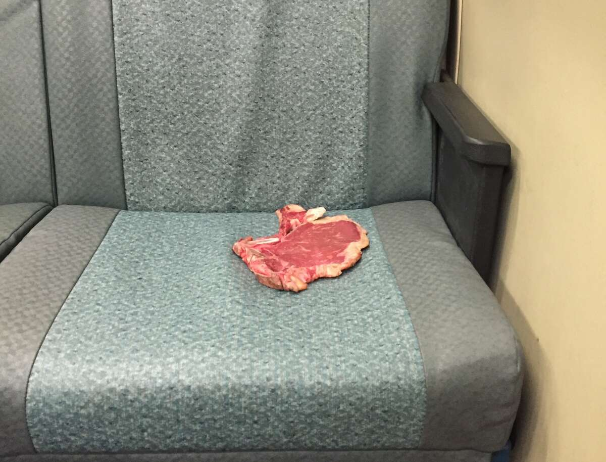 In April 2016, someone left their raw slab of meat on a BART seat. Riders noticed it at SF's Montgomery Street station and apparently it's a pretty pricy cut. Read the story.