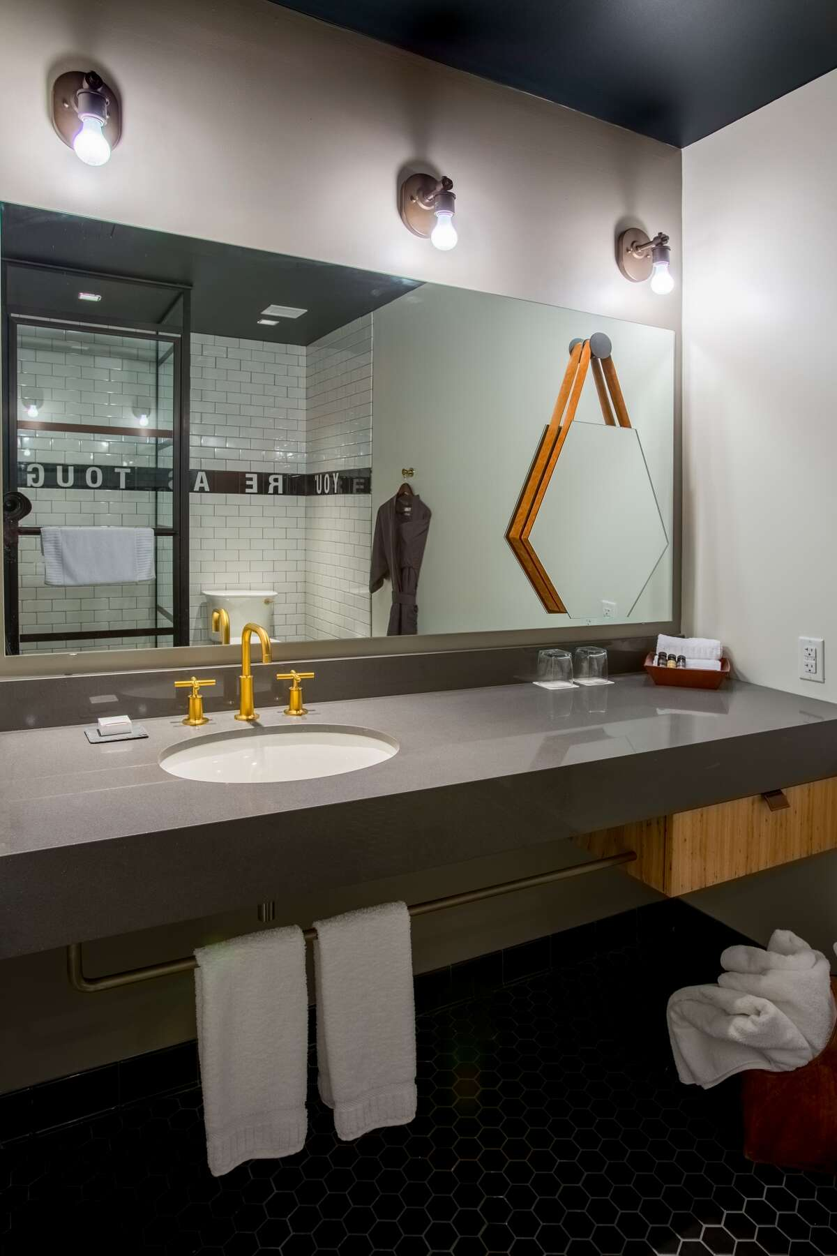Refined rustic is the sense of style you'll find at The George boutique hotel under construction at Texas A&M University in College Station.