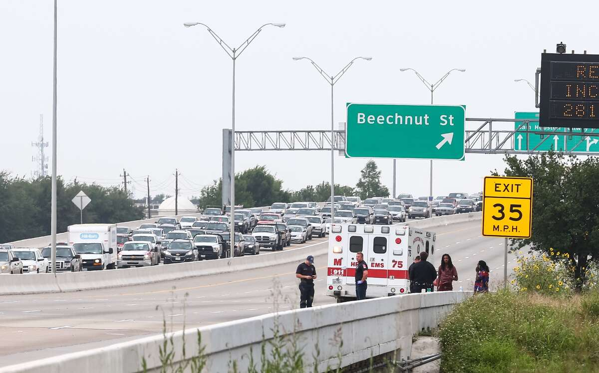 An officer-involved shooting along Beltway 8, between Bissonnet and Bellaire, nearly brought rush hour traffic to a standstill on Thursday afternoon.