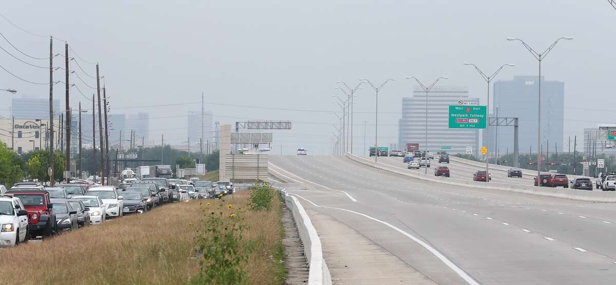 West Sam Houston Tollway southbound after Bellaire was shut down following the shooting on Thursday.
