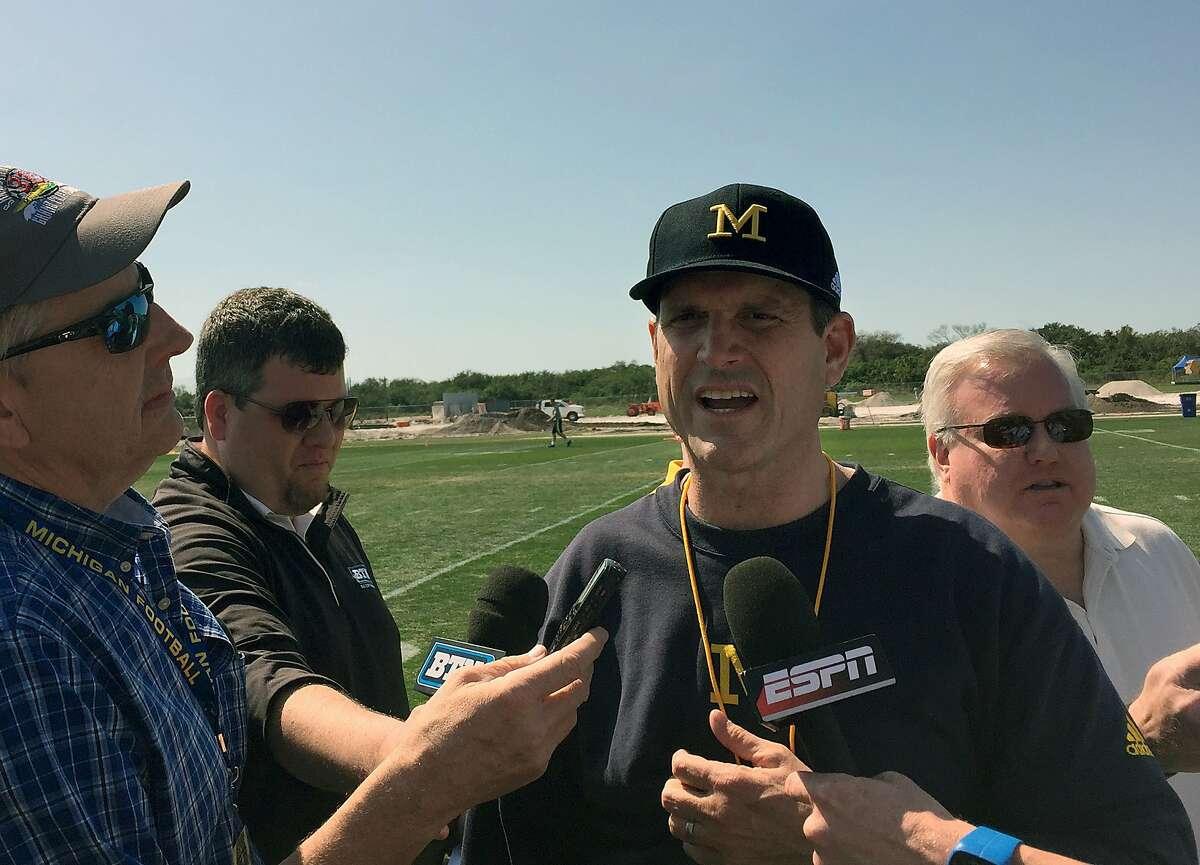 Michigan football coach Jim Harbaugh