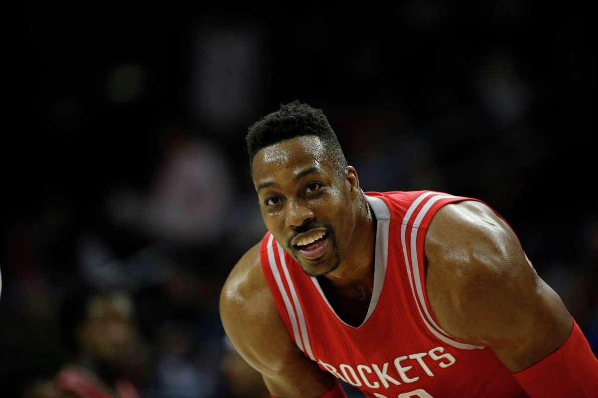 Houston Rockets' Dwight Howard in action during an NBA basketball game against the Philadelphia 76ers, Wednesday, March 9, 2016, in Philadelphia. (AP Photo/Matt Slocum)